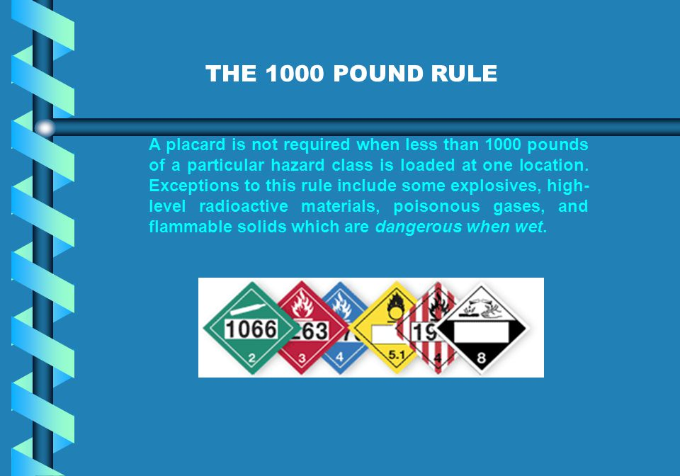 THE 1000 POUND RULE