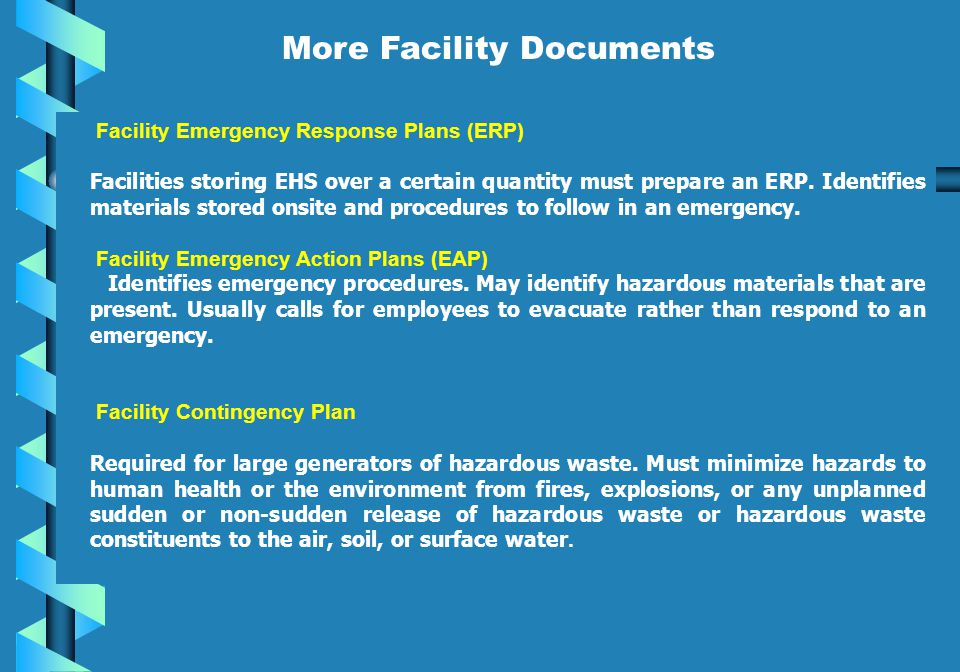 More Facility Documents