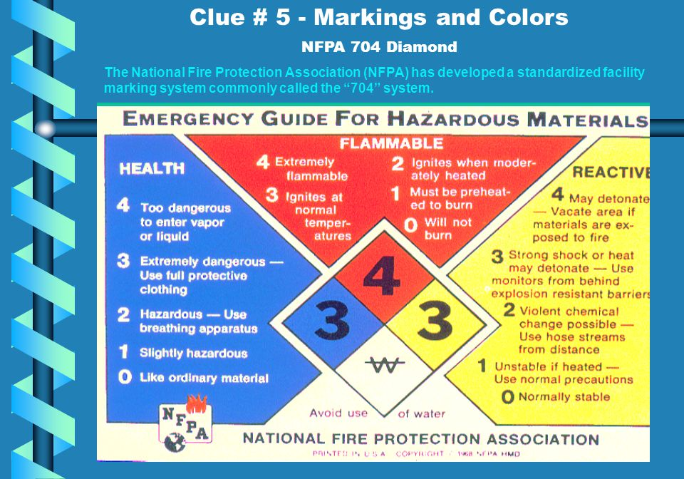 Clue # 5 - Markings and Colors