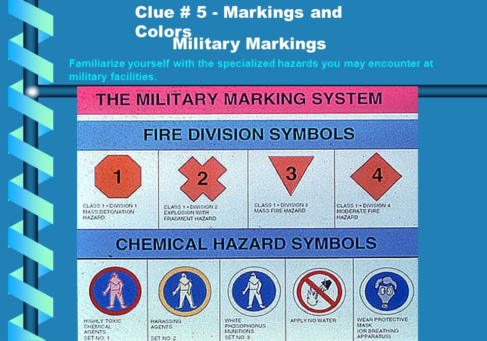 Clue # 5 - Markings and Colors Military Markings