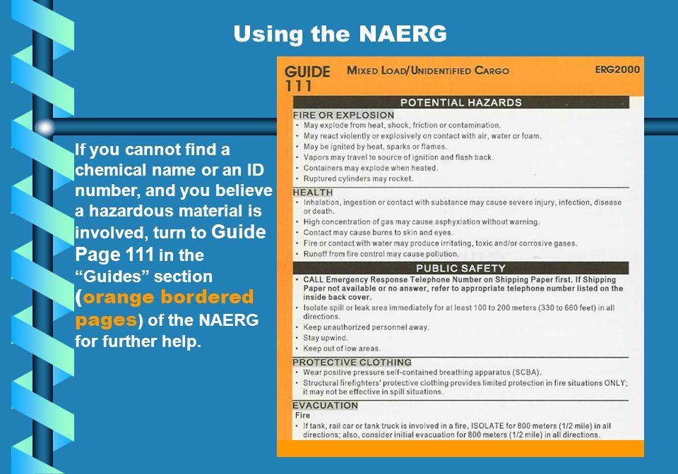 Using the NAERG