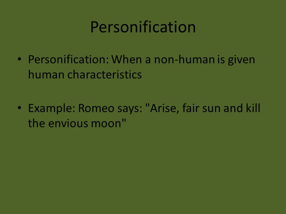 romeo and juliet literary terms ppt video online  18 personification