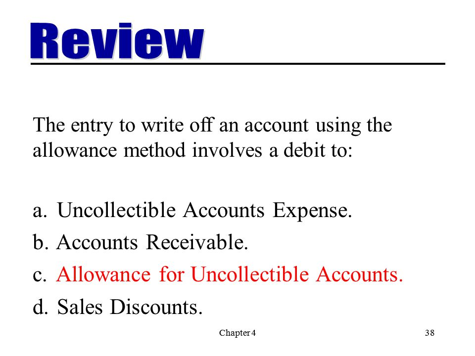 uncollectible accounts When a business operates by making sales on credit, it faces the risk that it will not be able to collect on some of the obligations while it is easy to identify an uncollectible receivable as a recorded sale for which you will be unable to recover the proceeds, there are several steps a business needs to take to get.