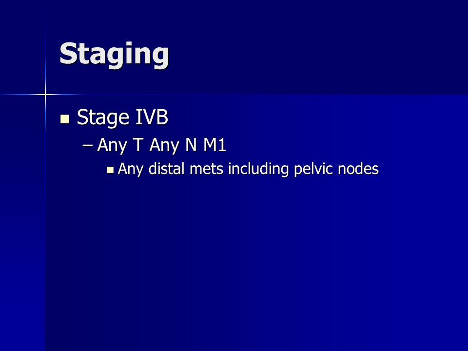 Staging Stage IVB Any T Any N M1