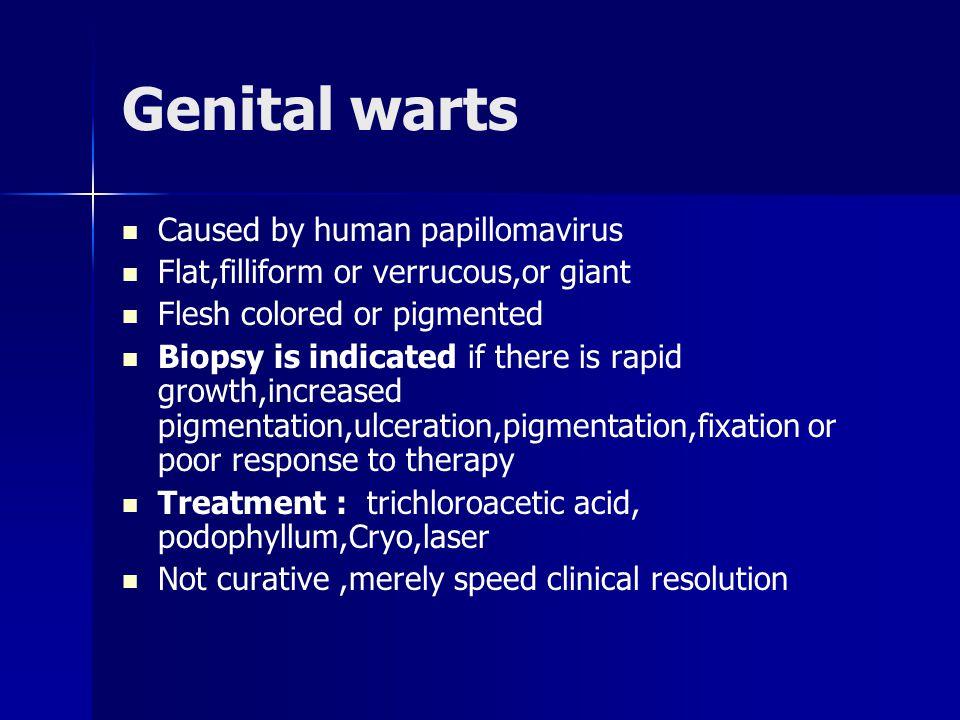 Genital warts Caused by human papillomavirus