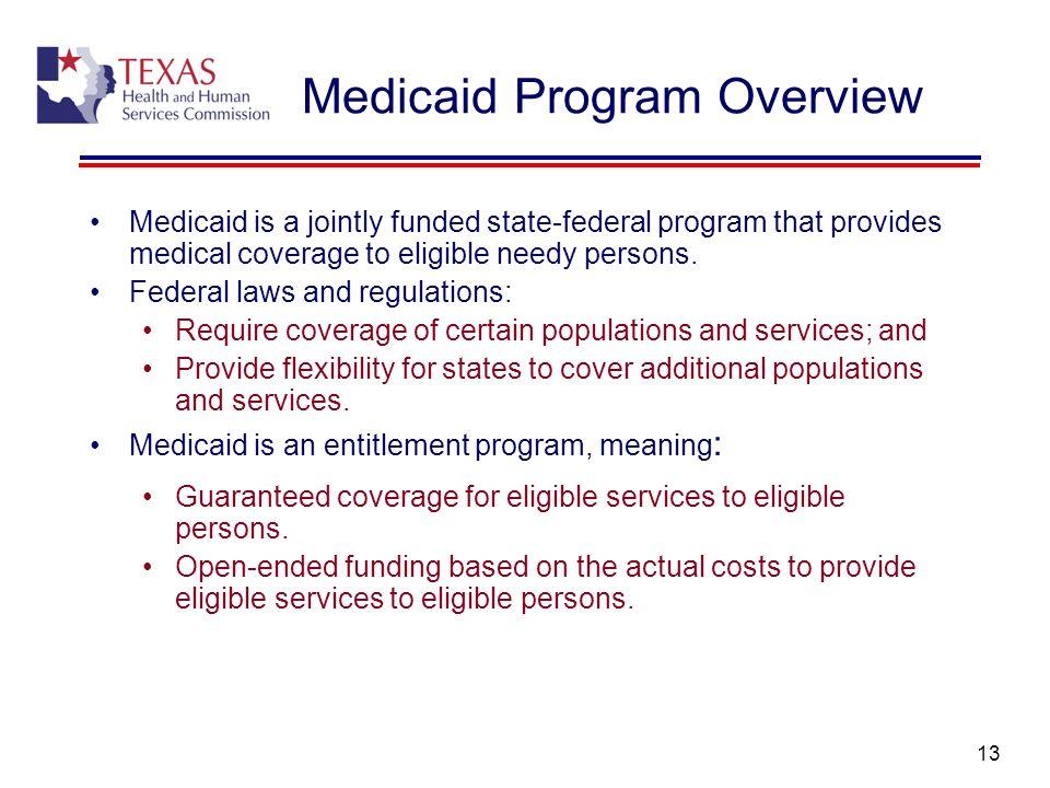 Medicaid Program Overview