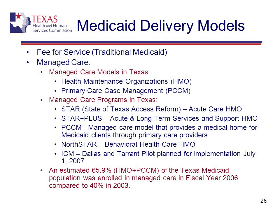 Medicaid Delivery Models