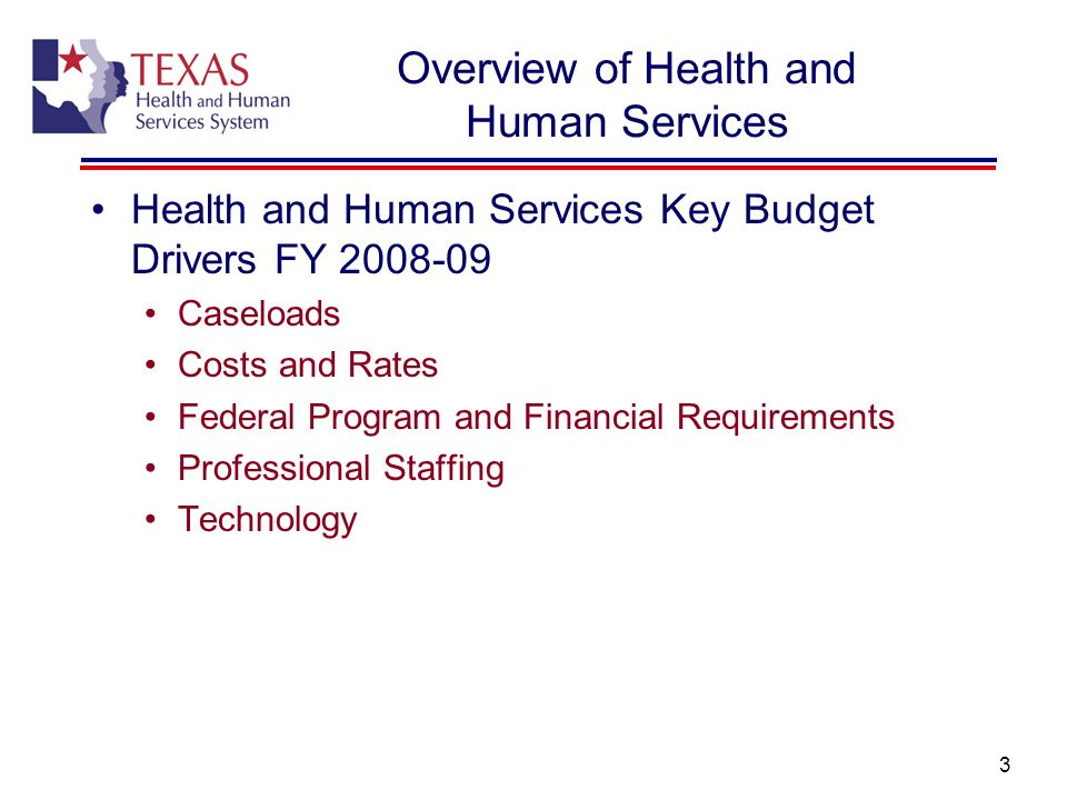 Overview of Health and Human Services