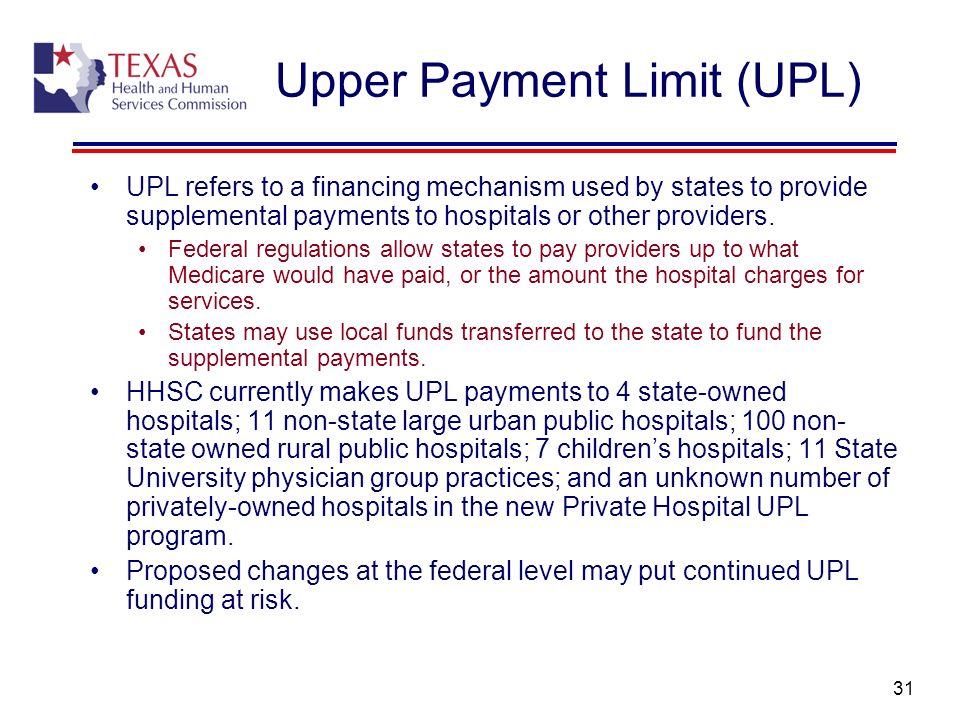 Upper Payment Limit (UPL)
