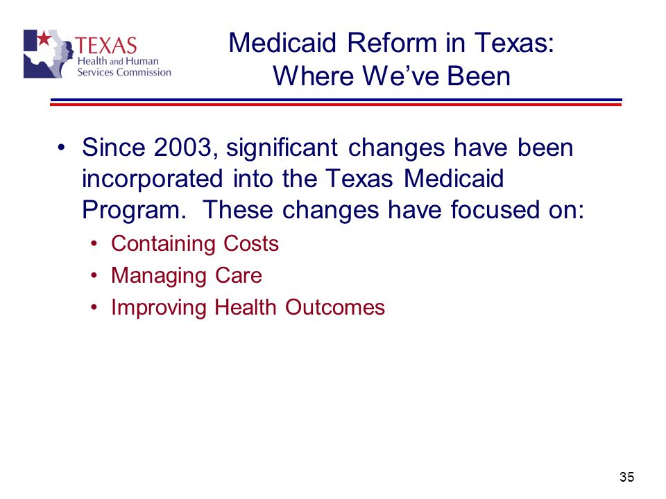 Medicaid Reform in Texas: Where We've Been