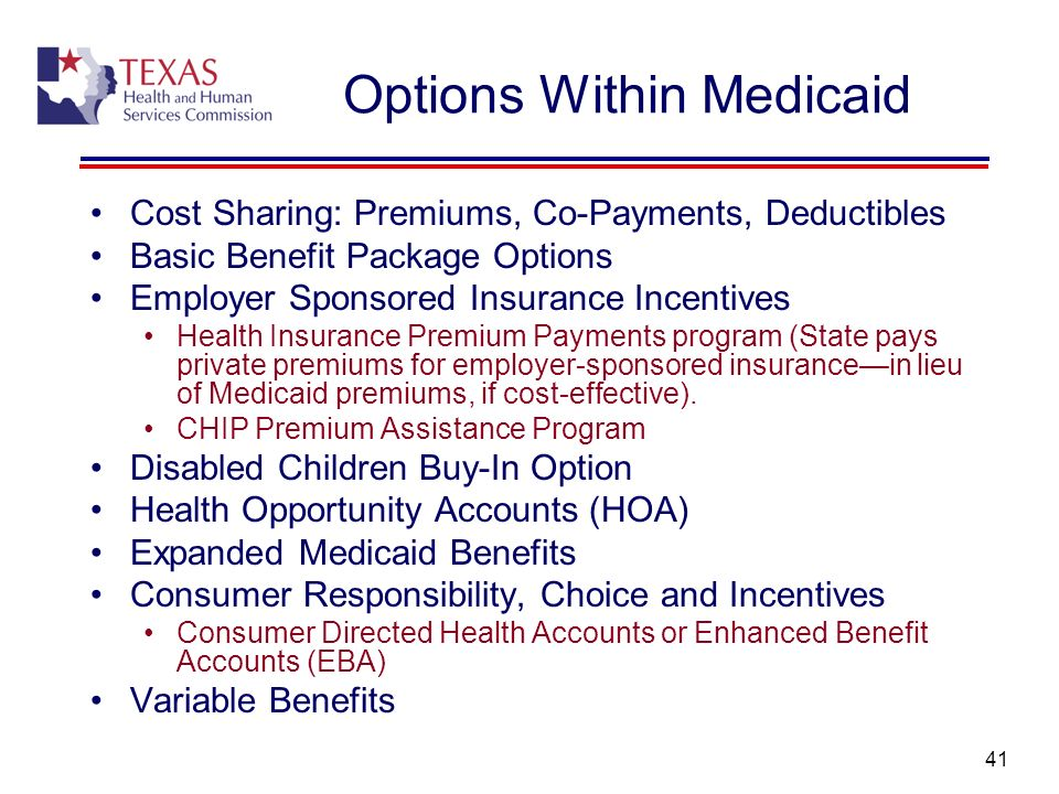 Options Within Medicaid