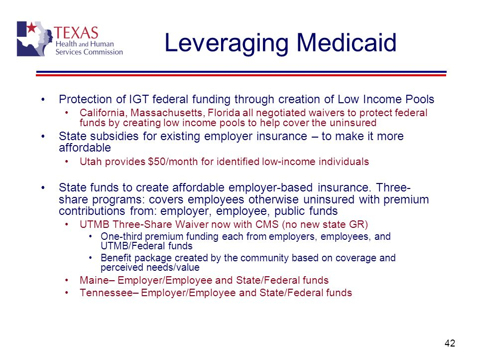 Leveraging Medicaid Protection of IGT federal funding through creation of Low Income Pools.