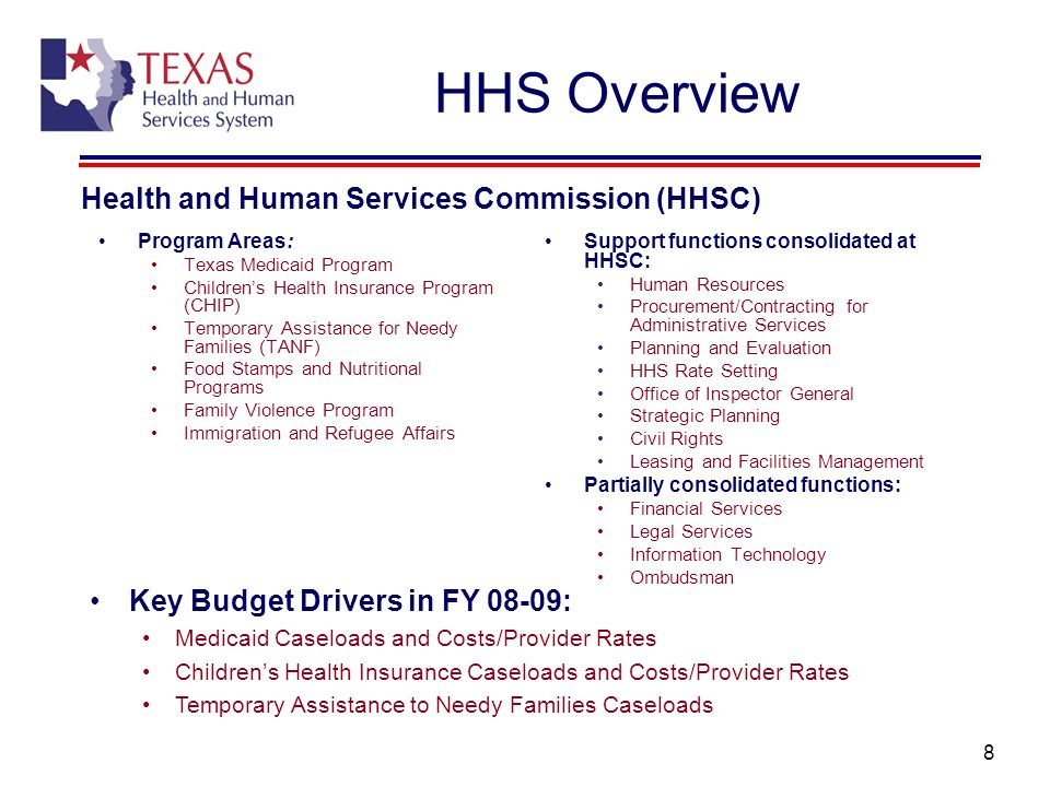 HHS Overview Health and Human Services Commission (HHSC)