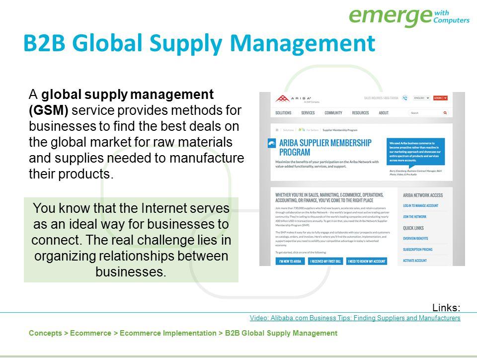 B2B Global Supply Management