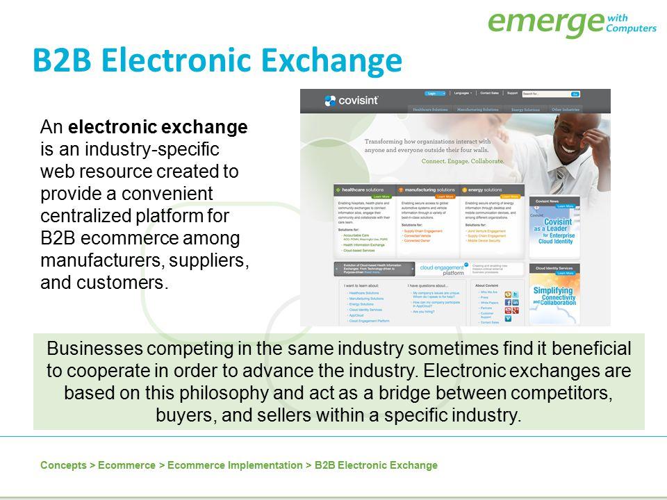 B2B Electronic Exchange