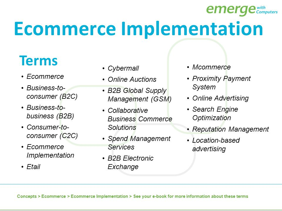 Ecommerce Implementation