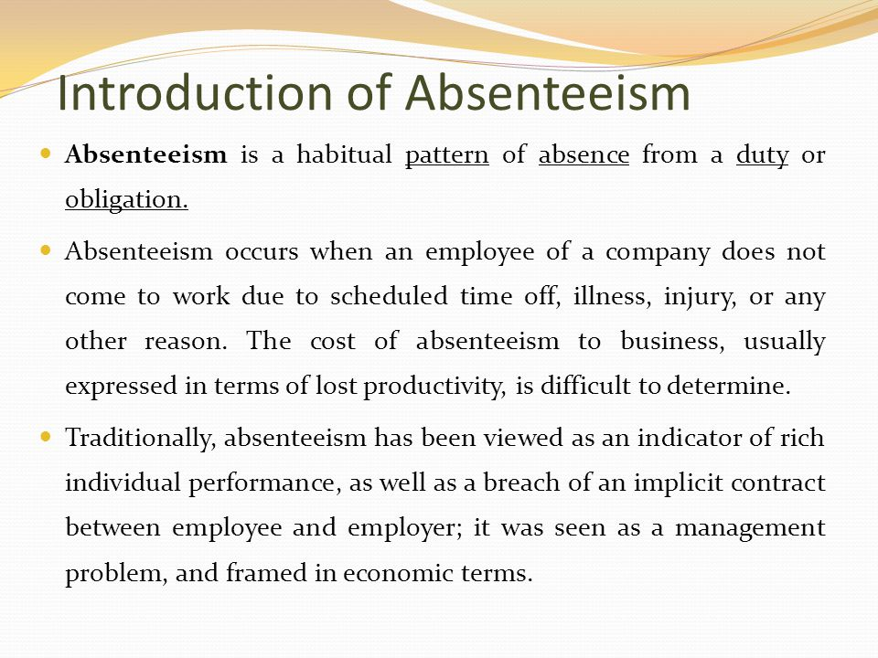 absenteeism costs of unscheduled absences hurt Hr also has to pay attention to the toll absenteeism and stress can take on  hr's push for productivity  the direct costs of unscheduled absences increased 24.