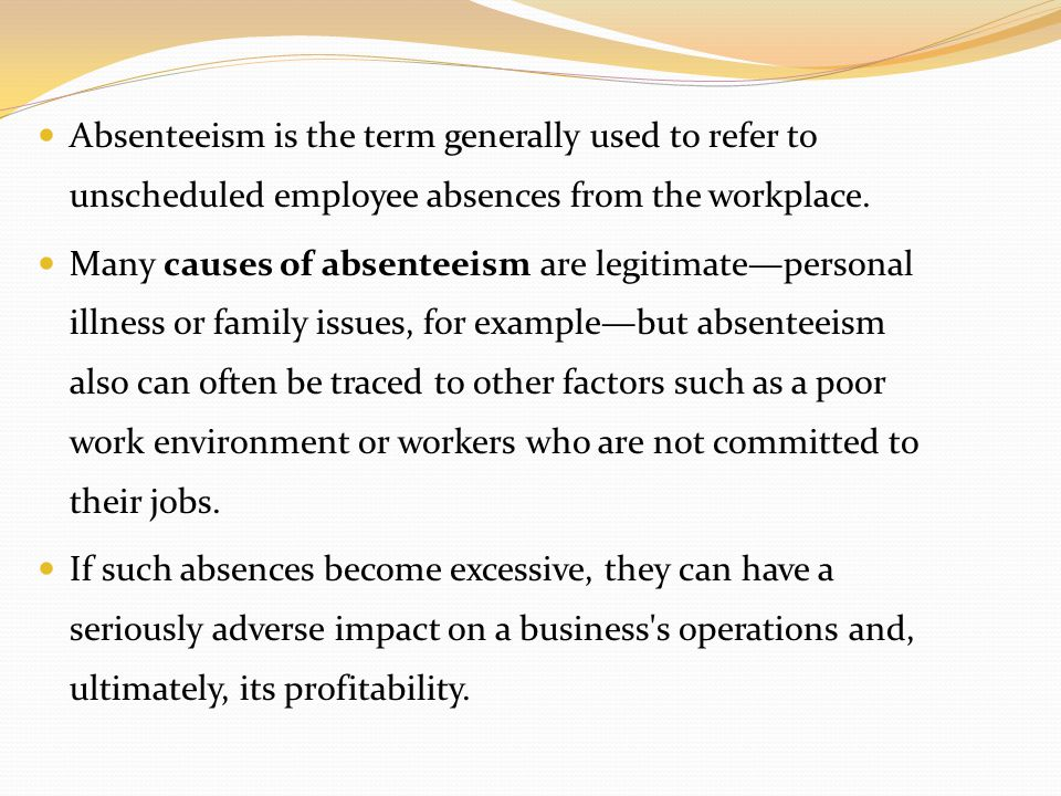 absenteeism and employee turnover Improving employee engagement is not simply about  top-quartile firms have lower absenteeism and turnover  when engaged employee do this they create a.