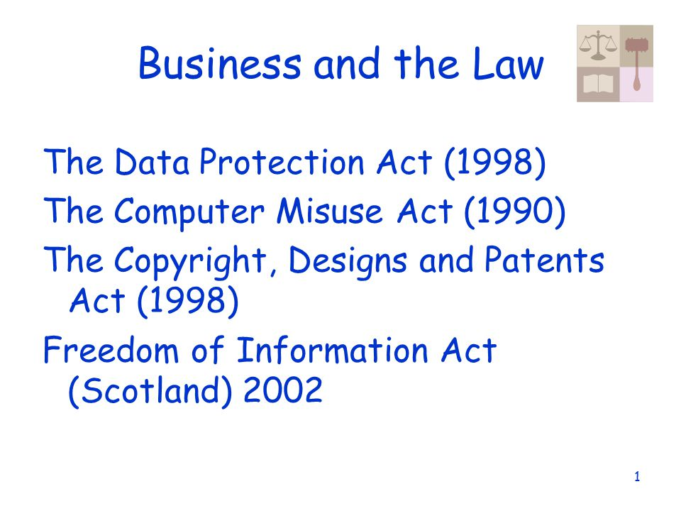 data protection act and computer misuse Computer misuse act this act was brought in to help secure computer material from unauthorised access and from being modified without permissions.