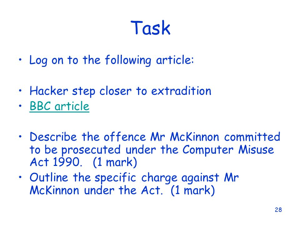 is the computer misuse act 1990 appropriate Computer misuse act 1990  regarded as a breach of discipline and dealt with under the appropriate code of conduct computer misuse/347 page 3.