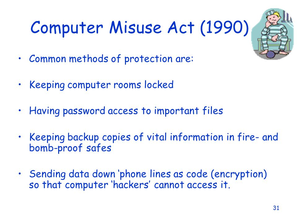 Data protection act and computer misuse act essay