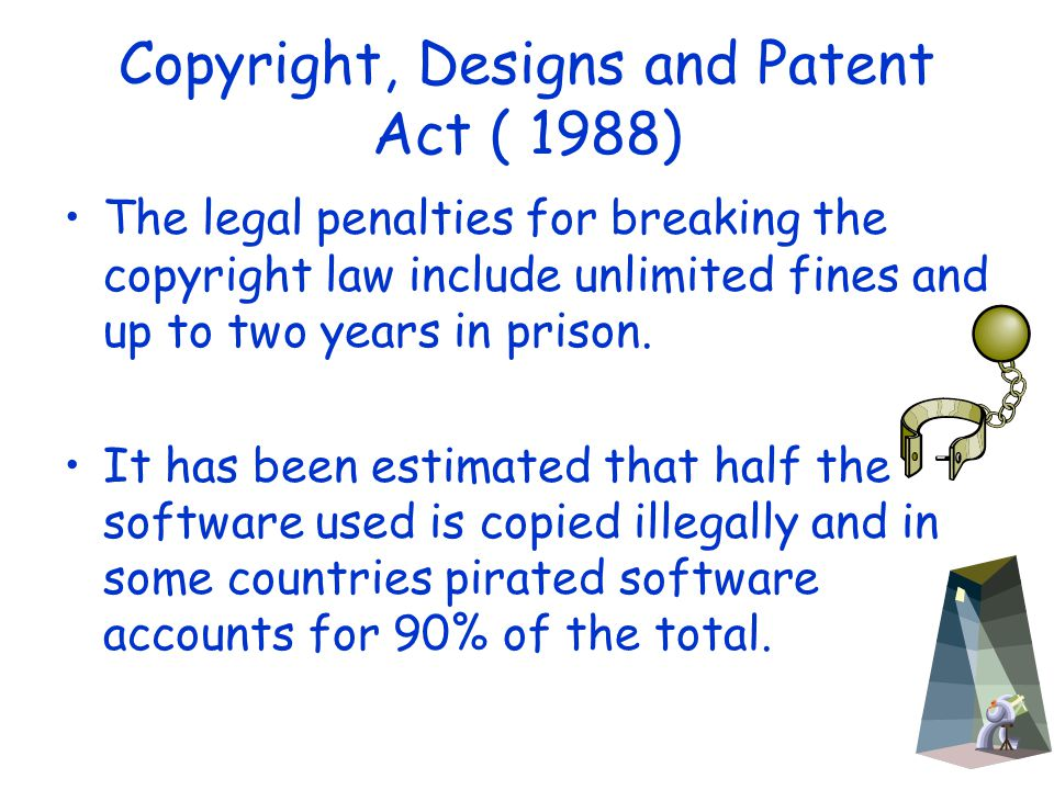 copyright and patent laws should be changed to fit computer software The uk copyright laws fact sheet outlines the the uk copyright law fact sheet outlines the copyright, designs and patents the copyright (computer.