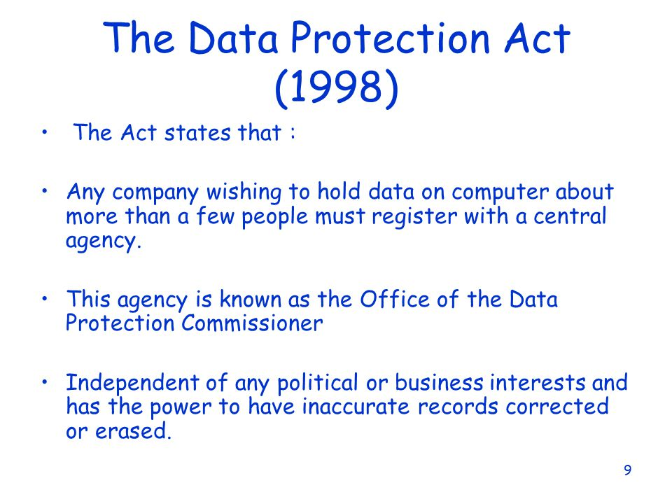 data protection act 1998 and social The data protection act explained information, guidence and resources covering the legislation.