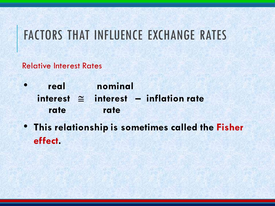 interest rates and exchange relationship quotes