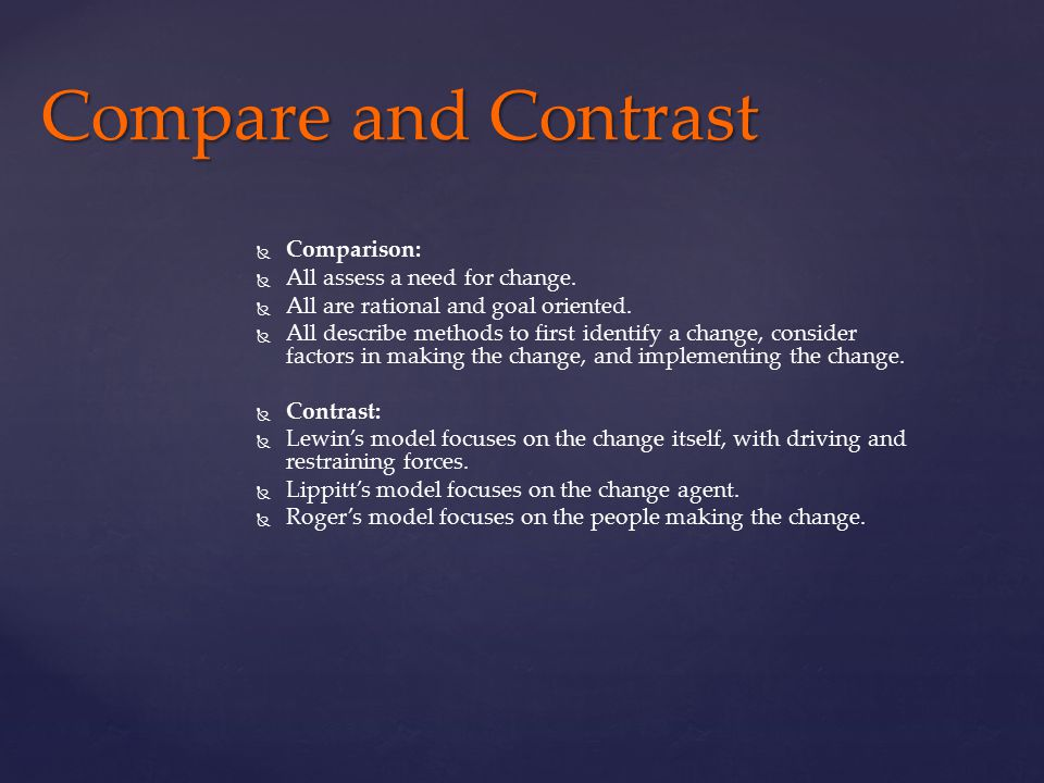 compare and contrast the changing mentality How attitude change takes place festinger's (1957) cognitive dissonance  theory suggests that we have an inner drive to hold all our attitudes and behavior  in.