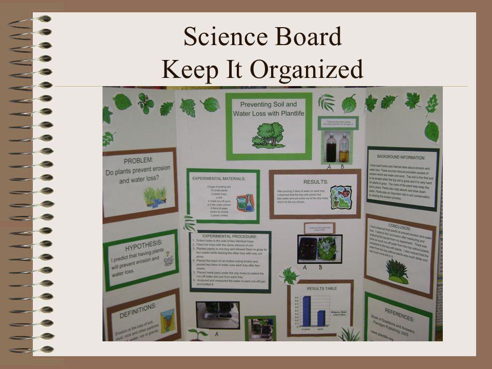 Science Board Keep It Organized