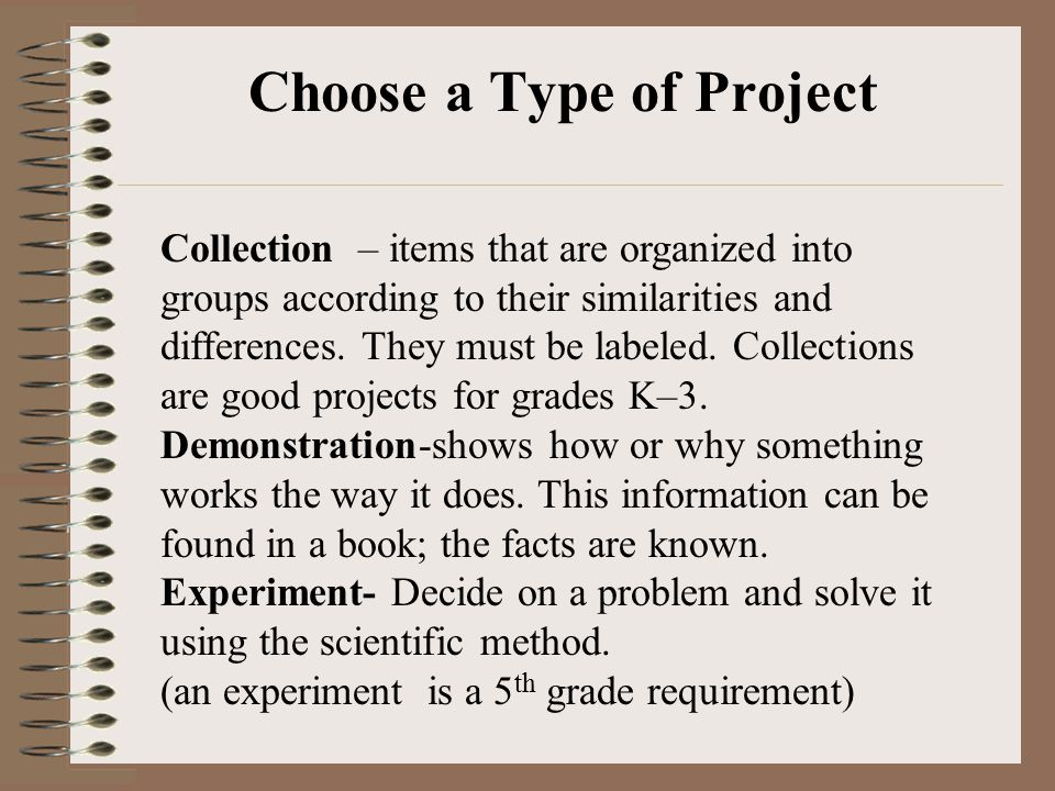 Choose a Type of Project