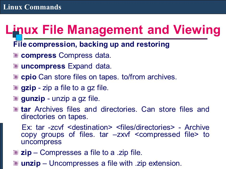 file management commands in linux pdf