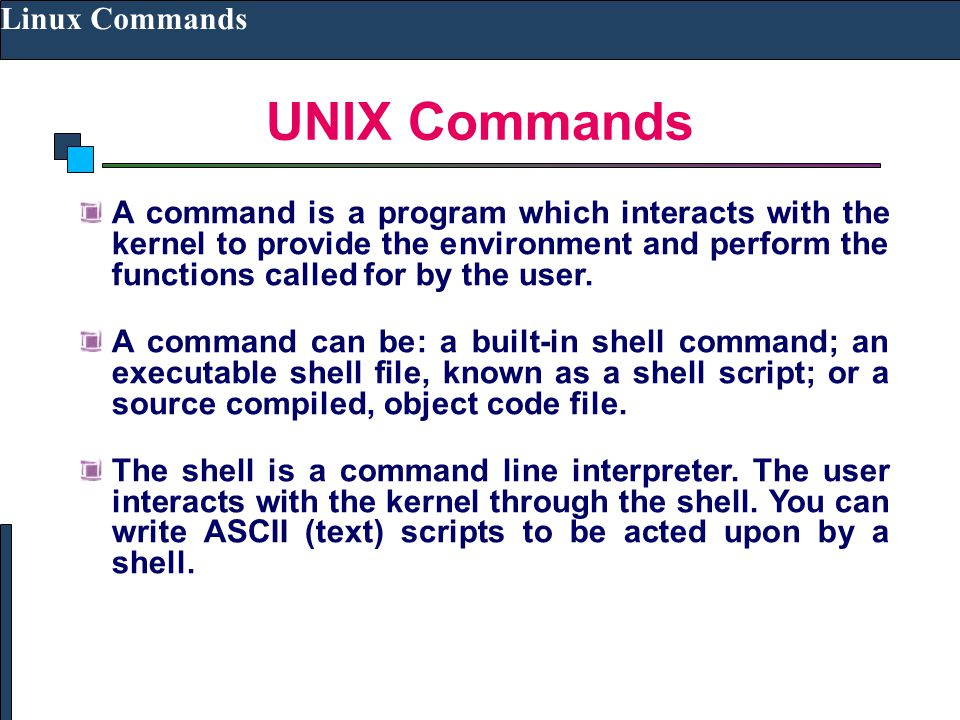 UNIX Commands Linux Commands