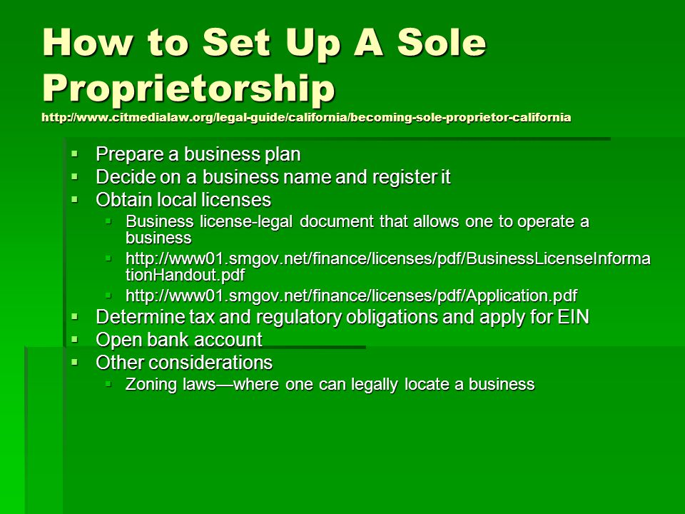 project plan for sole proprietorship A proposal to lower the tax rate for businesses that are organized as sole  proprietorships, partnerships and s corporations would allow the.