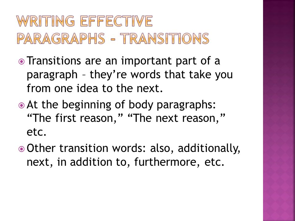 writing effective paragraphs Writing introductory paragraphs for essays 1 writing introductory paragraphs for  this can be a very effective technique for pulling the reader into the essay.