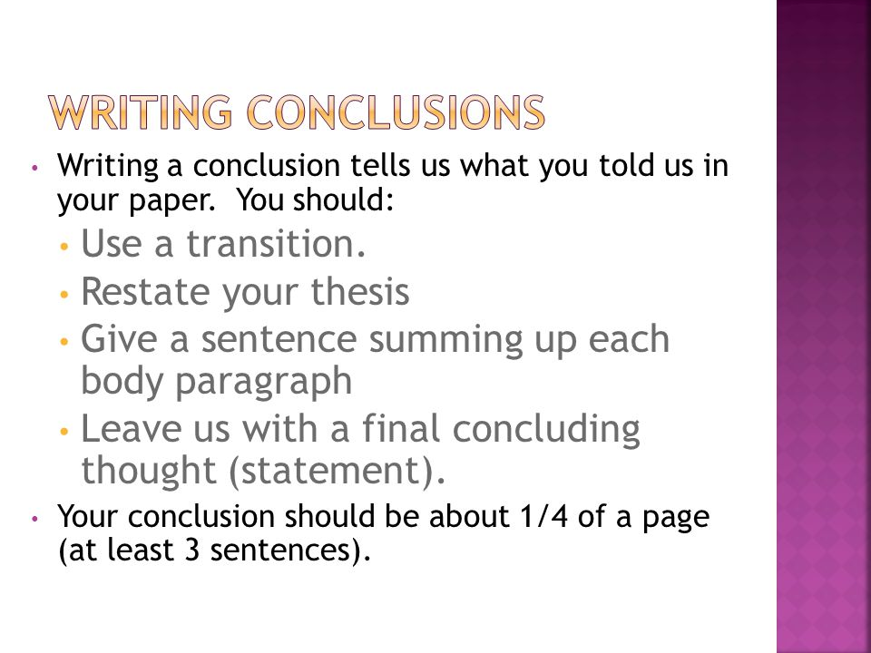 Quick Guide About Conclusion Formatting for Thesis