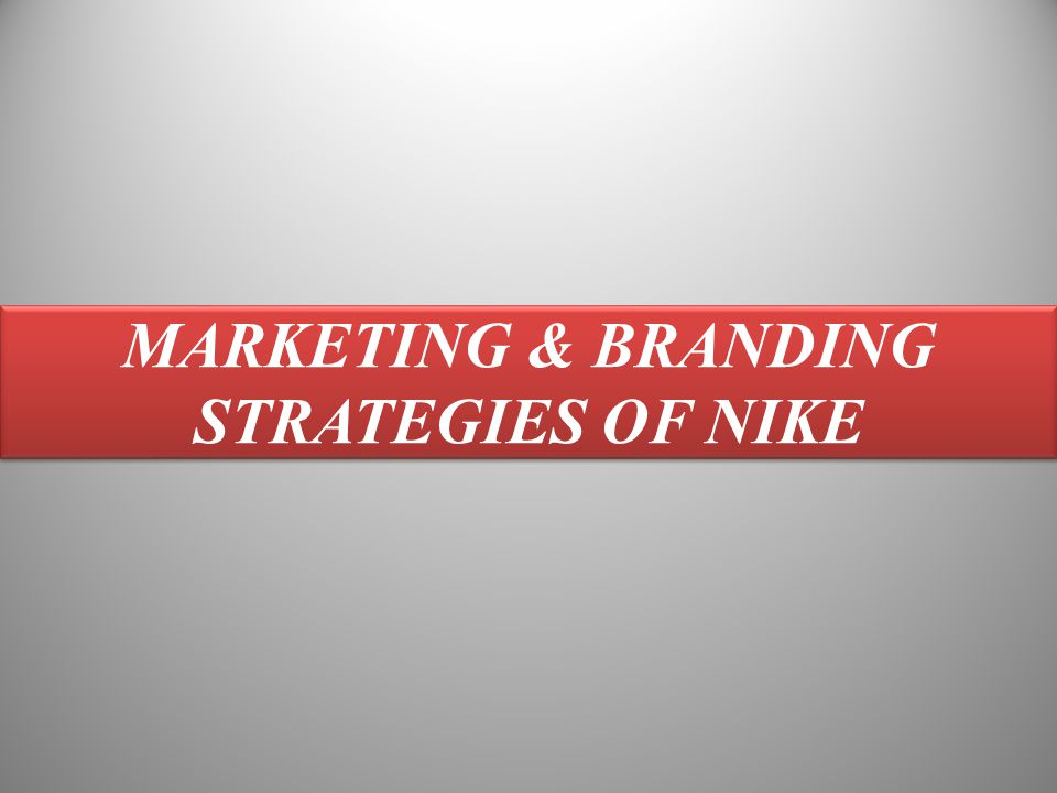 nike marketing strategy case study pdf