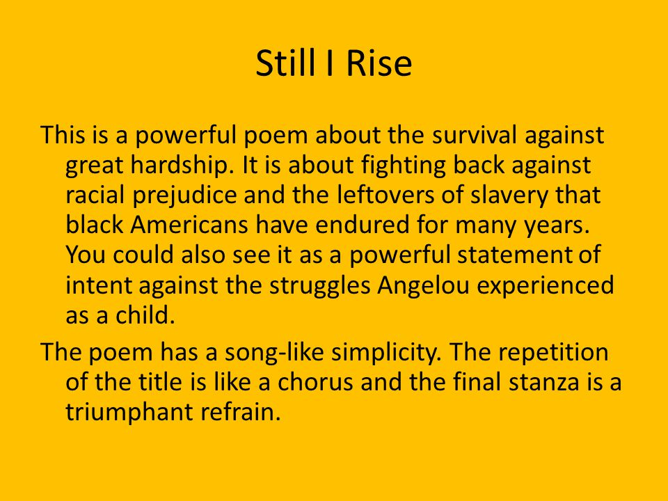 and still i rise