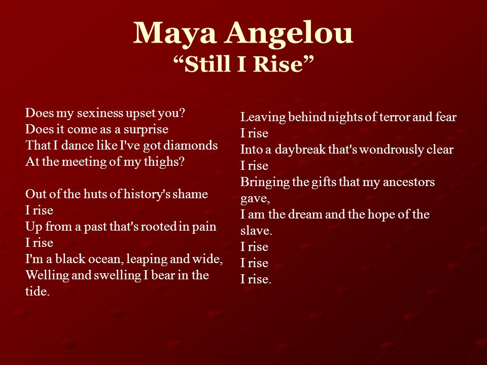 poetry comparison maya tupac And indeed, she leaves behind a broad and highly decorated body of poems but also plays, personal autobiographies, children's books and the time she made tupac cry morgan's let's call it a tribute to angelou doesn't even begin to compare to maya rudolph's amazing.