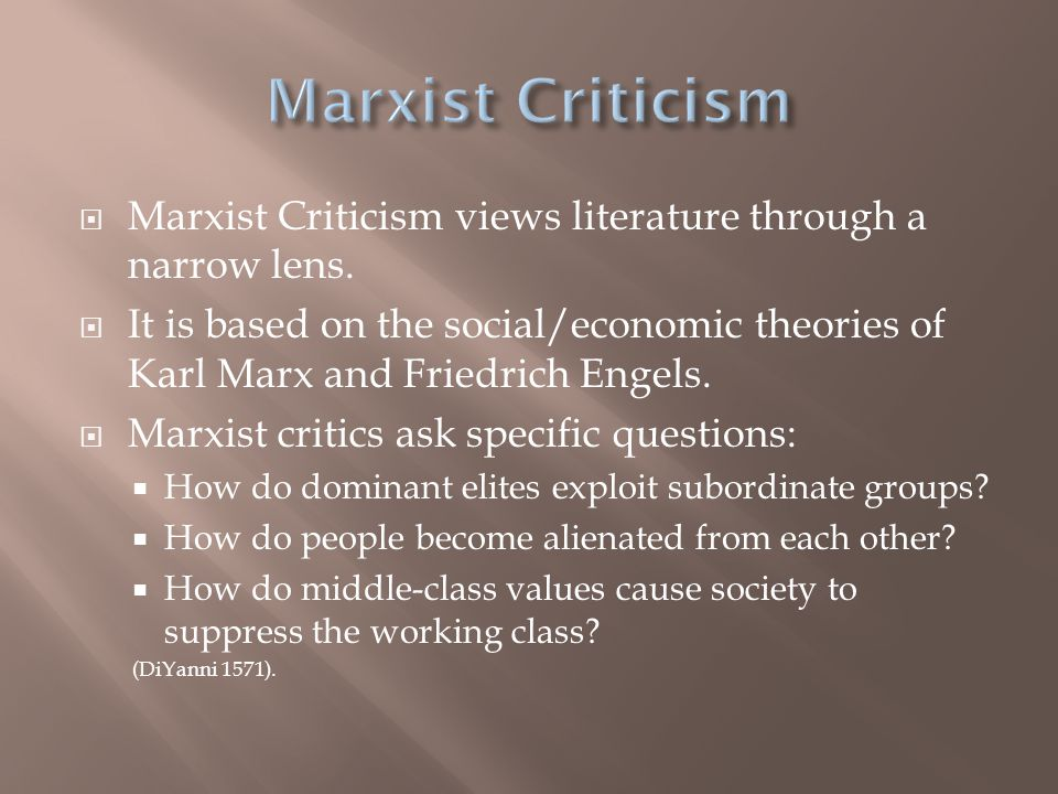 syriana and successive marxist theory essay In the previous essay with the view typical for marxist theory of scientific the relation of marxist epistemology to empiricism in.