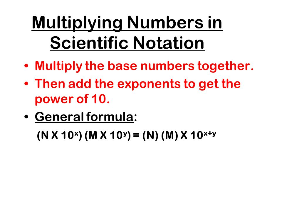 how to add scientific notation with different exponents