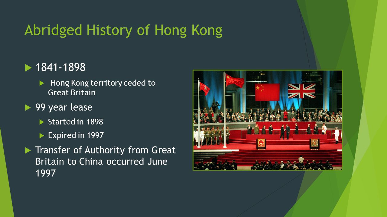 Abridged History of Hong Kong