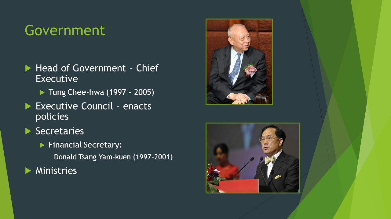 Government Head of Government – Chief Executive