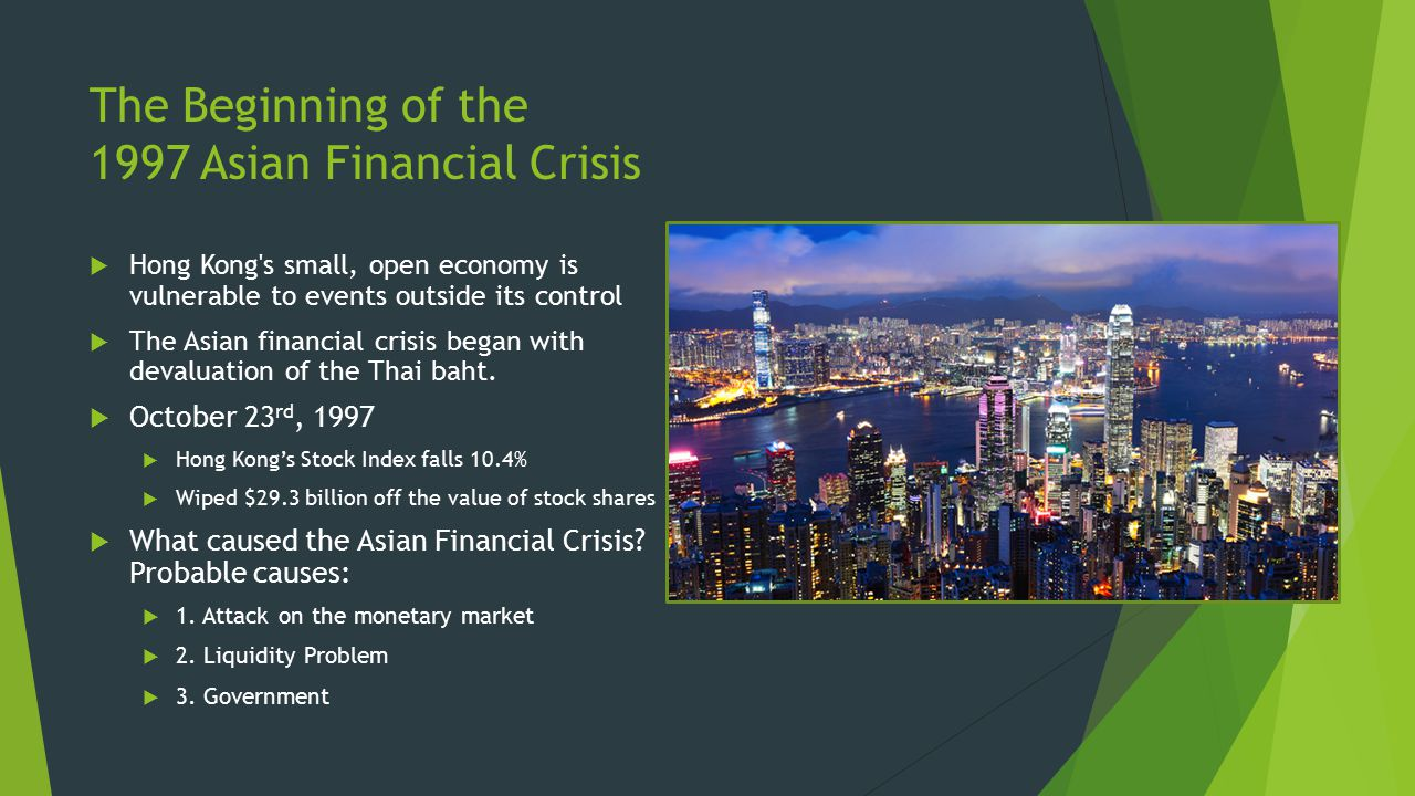 The Beginning of the 1997 Asian Financial Crisis
