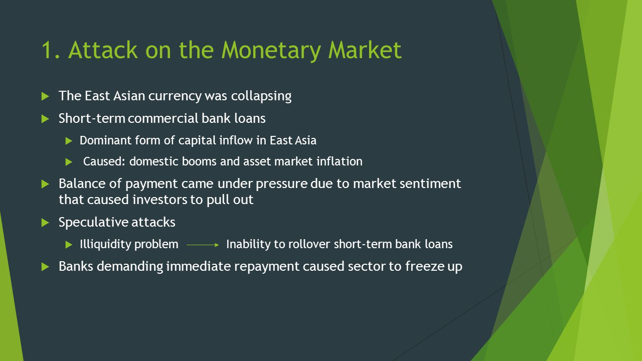 1. Attack on the Monetary Market