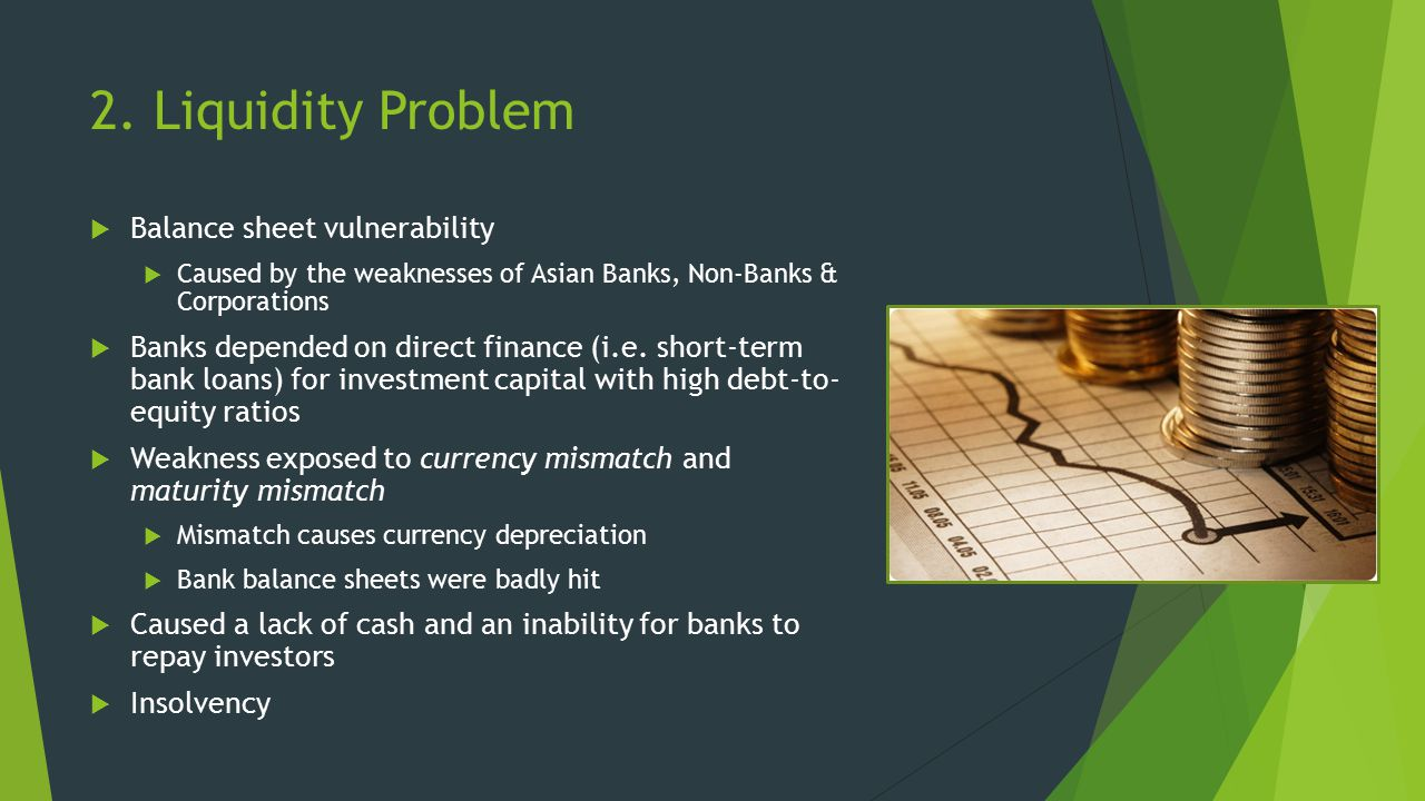 2. Liquidity Problem Balance sheet vulnerability