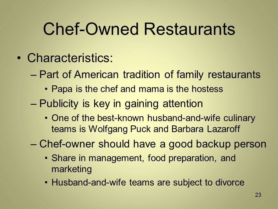 10 Top Characteristics of Successful Restaurant Managers in the U.S., 2013