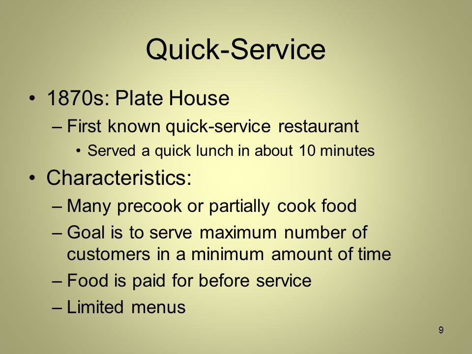 characteristics of subway restaurant These seven financial ratios provide insight to the profitability of a restaurant, prospective longevity of the business and quality of decisions being made.