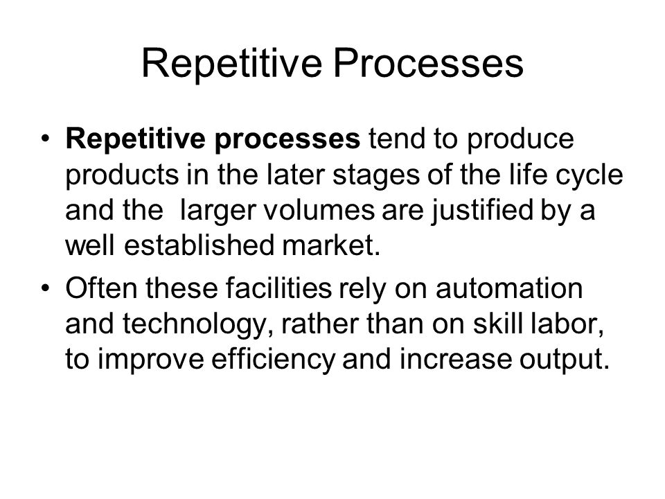 Repetitive Processes