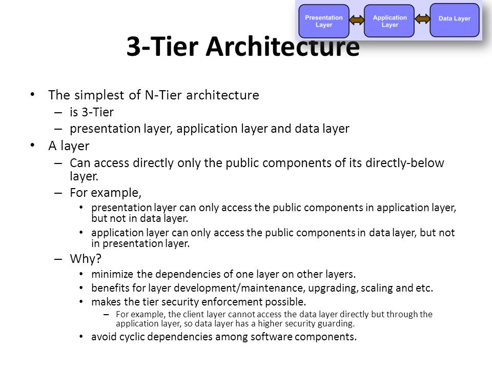N tier architecture ppt video online download for N tier architecture example